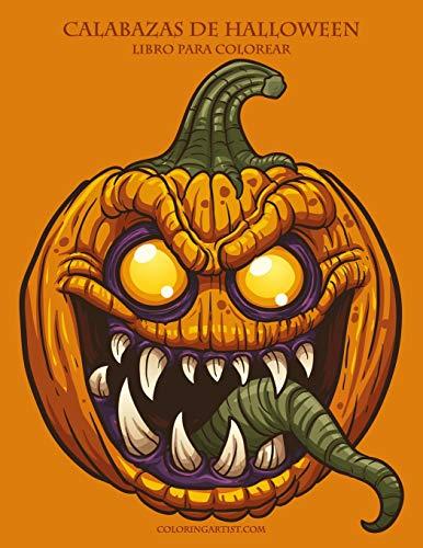 Calabazas de halloween libro para colorear 1 (Halloween Para Calabazas)