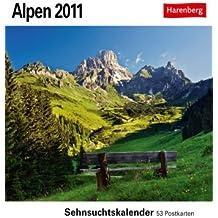 Alpen 2011: Sehnsuchts-Kalender. 53 heraustrennbare Farbpostkarten