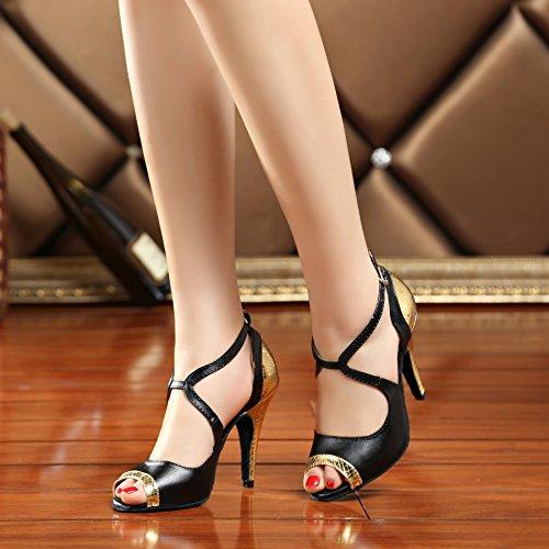 Miyoopark - Ballroom donna Black/Gold-10cm heel