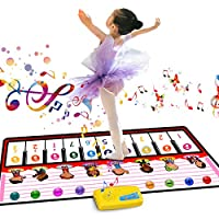 RenFox Piano Mat, Musical Dance Mat Tough Play Keyboard Mat for Kids Portable Colorful Music toy Toy Gif