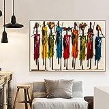 NNYYG Frauen-Gemälde auf Leinwand und Fotowand Art Portraitbild Wohnzimmerdeko ohne Rahmen 40x60cm
