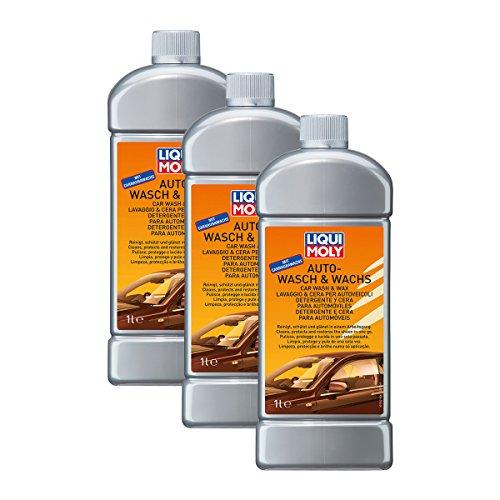 3x LIQUI MOLY 1542 Auto-Wasch & Wachs Pflege Reinigung 1L