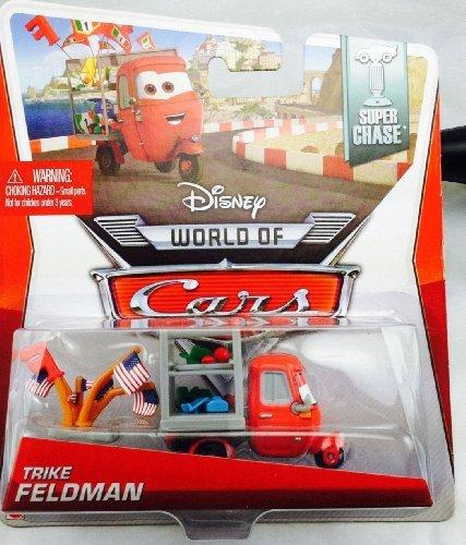 Disney Pixar CARS 2 Movie 1:55 Die Cast Car *Ultimate Super Chase* Trike Feldman - Edition Limitée: 4000 - Voiture Miniature Echelle 1:55