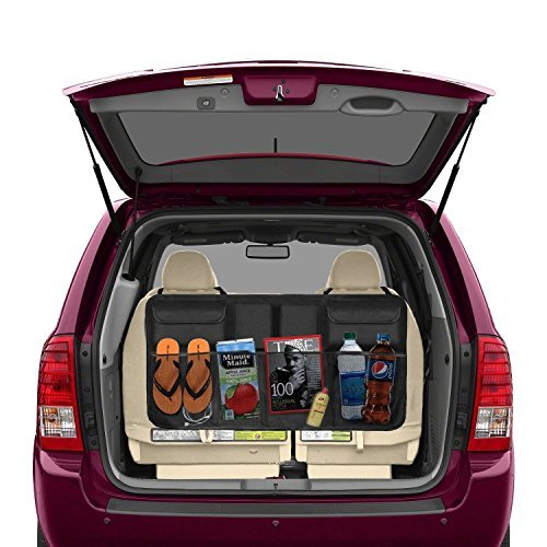 Beepzoo - Organizer for car rear seat, cargo accessories, space saving, rugged, fits all-terrain vehicles, with bottom lid