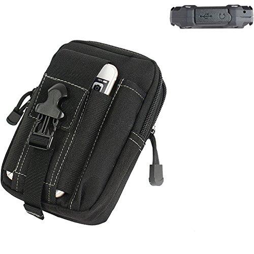 K-S-Trade Gürtel Tasche für simvalley Mobile SPT-210 Gürteltasche Schutzhülle Handy Hülle Smartphone Outdoor Handyhülle schwarz Zusatzfächer