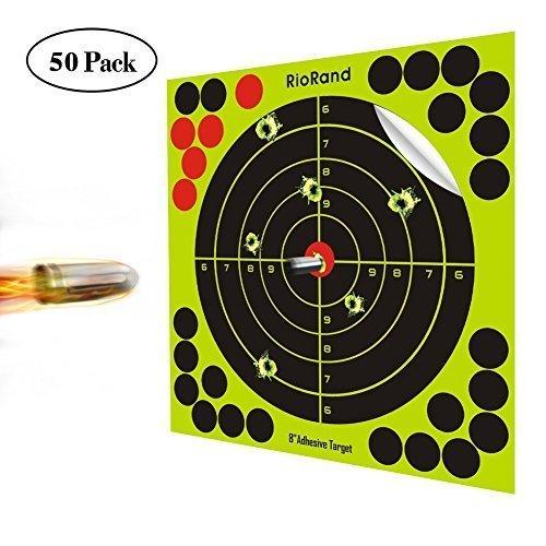 RioRand Shooting Splatter Ziele 20,3cm Selbstklebende Papier Reactive Target Aufkleber für Gun Gewehr BB Pistole Airsoft Pellet Gun Air Gewehr