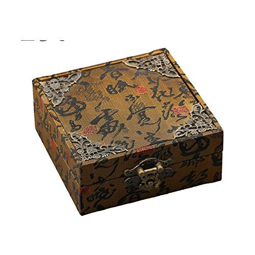 Retro legno portagioie/ Contenitore di regalo del braccialetto della perla/ bracciale/ arte box di