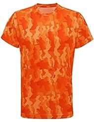 Tri Dri - Camiseta de manga corta modelo Hexoflage Performance para hombre