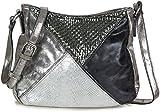 Tasche Klein Silber Umhängetasche Glitzer Handtasche Metallic für Damen Crossbody Silberne Kleine Abendtasche PU Kunstleder - mittelgroß Elegant