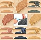 Kettelservice-Metzker® Stufenmatten Treppenmatten Ranger Halbrund - zuschneidbar Mais 15 Stück
