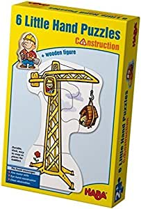 Haba Little Hand Puzzles: Construction (2,3,4 pc) by Haba (English Manual)