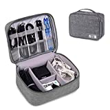 ORPIO (LABEL) Waterproof Travel Electronic Gadget Organizer Case, Portable Zippered External Hard Drive