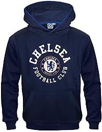 Chelsea FC - Sudadera oficial con capucha para niño - Con el escudo del  club - 3b40e4839d0f9