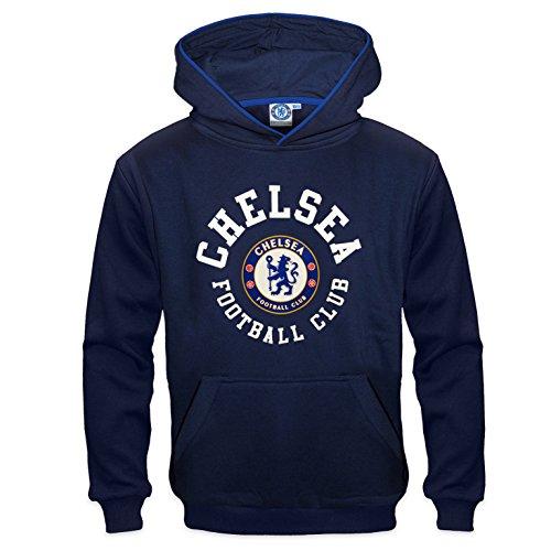 Chelsea FC - Jungen Fleece-Hoody mit Grafik-Print - Offizielles Merchandise - Geschenk für Fußballfans - Blau - Marineblau - 10-11 Jahre