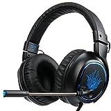 2017 SADES R5 3.5mm Multi-Platform Cuffie Gaming, Cuffie da Gioco Con Microfono Controllo del Volume Noise Cancelling Per New Xbox uno/PS4/PC/Laptop/Mac/iPad/iPod(Nero/Bl immagine