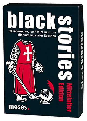 Moses black stories Mittelalter Edition | 50 rabenschwarze Rätsel | Das Krimi Kartenspiel