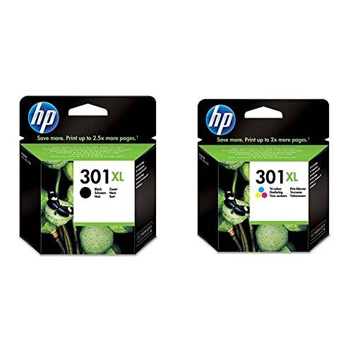 HP 301XL Farbe Original Druckerpatrone mit hoher Reichweite für HP Deskjet, HP ENVY, HP Photosmart...