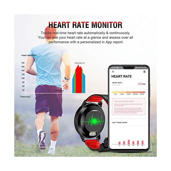 Smartwatch Deporte para Mujer Hombre con Pantalla Completa Táctil Monitores de Actividad Impermeable Outdoor Fitness… 5