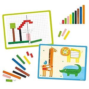 Goula- Actividades con regletas – Juego preescolar matemático a partir de 3 años