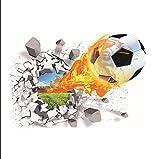 3D Fu?ball Wandaufkleber Wohnzimmer Schlafzimmer Aufkleber Cartoon Jungen Teens Kinder Kinderzimmer Wand Kunst Wandbilder Tapete Poster