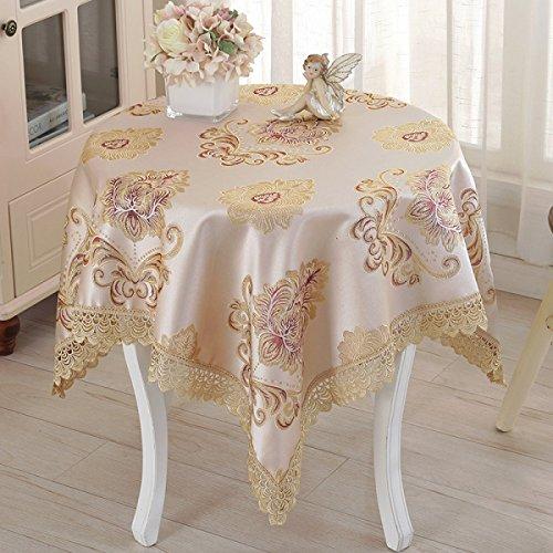 LTCGDB Place Dentelle Restaurant Table Basse De Salon Nappe De Pique-nique Lavable De Partie,B-85*85CM
