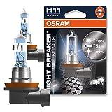 2x OSRAM HALOGEN-LAMPE H11 NIGHT BREAKER UNLIMITED 3600K GLÜHBIRNE SCHEINWERFER LAMPE BIRNE AUTOLAMPE LEUCHTE LEUCHTMITTEL LICHT 55W/12V LAMPE +110% MEHR LICHT 64211NBU-01B 64211NBU