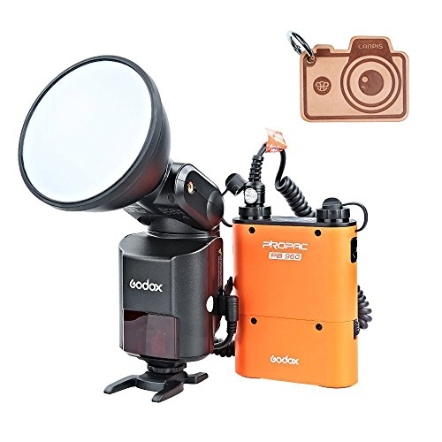 Godox Witstro AD360II-N TTL HSS 360W GN80potente Wireless 2.4G X Sistema flash Speedlite Light + 4500mAh PB960Batteria al Litio per Fotocamera Nikon (AD360II-N arancione)
