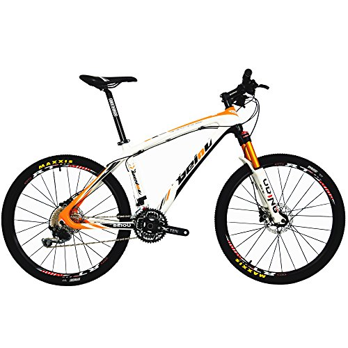51Yq5USrMQL. SS500  - BEIOU Carbon Fiber Mountain Bike Hardtail MTB SHIMANO M610 DEORE 30 Speed Ultralight 10.8 kg RT 26 Professional External Cable Routing Toray T800 CB005