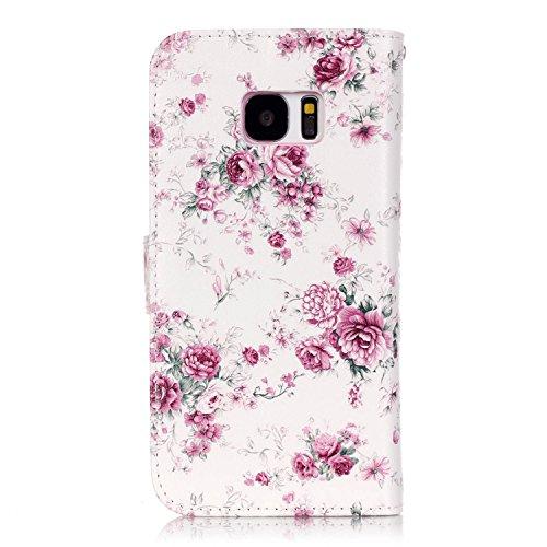 Hülle für Samsung Galaxy S7 Schmetterling,TOCASO Glitter Strass Bling Ledertasche Muster Weich PU Schutzhülle für Samsung Galaxy S7 Flip Cover Wallet Case Tasche Handyhülle mit Lanyard Strap Stand Fun #7#