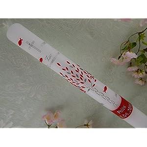 Kommunionkerze Lebensbaum rot silber Taufkerzen Kommunionkerzen handmade für Mädchen 400/40 mm mit Name und Datum