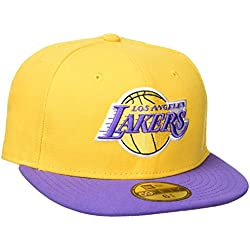 New Era Nba Basic Los Angeles Lakers - Gorra para hombre, color amarillo, talla 7 1/4