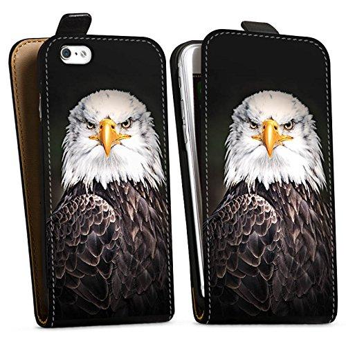 Apple iPhone X Silikon Hülle Case Schutzhülle Adler Vogel Eagle Downflip Tasche schwarz