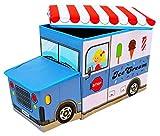Bieco 04000510 - Staubox und Sitzbank Icecreme, ca. 55 x 26,5 x 31,5 cm