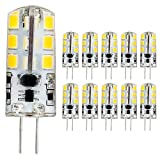 mengjay® 10 Stück - G4 LED Lampe 3.5Watt, Warm-Weiß - LED Leuchtmittel,24 SMD Leds - 360° Abstrahlwinkel,AC/DC 12V