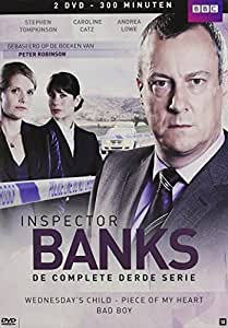 Inspector Banks (Complete Series 3) - 2-DVD Box Set ( DCI Banks ) ( Wednesday's Child / Piece of My Heart / Bad Boy ) [ NON-USA FORMAT, PAL, Reg.0 Import - Netherlands ] by Stephen Tompkinson