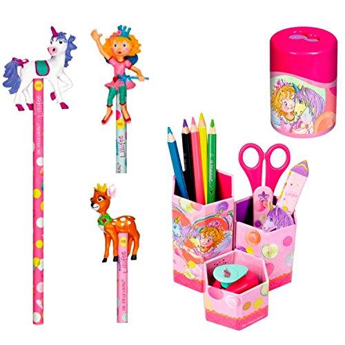 Spiegelburg Prinzessin Lillifee 3er Set 12246 12979 12967 Bleistift mit Topper (farblich sortiert,...