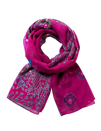 Desigual Damen Schal FOULARD_RECT.Bollywood, Rot (Purple Potion 3070), One Size (Herstellergröße: U)