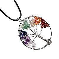 L&D Halskette Baum des Lebens Heilung 7Chakra Steine natürlichen Mehrfarbig preisvergleich bei billige-tabletten.eu