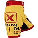 Met-X MMA Born To Fight Grappling Shorts Kick Boxing Cage Fighting Shorts Yellow