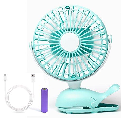 Baby-Spaziergänger BPA Free wiederaufladbare batteriebetriebene Clip auf Mini-Schreibtisch-Fans (Grün) Lasko Kleinen Fan