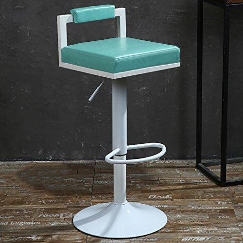 LI JING SHOP - Chaise élévatrice Tabouret à dossier réglable Chaise à manger Retro Paint Rotate Barstool ( Couleur : Bleu )