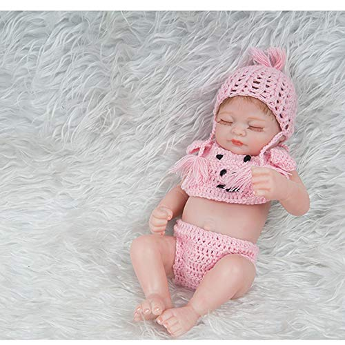 10 Zoll 28cm Full Silicone Reborn Baby Dolls Alive Lifelike Real Dolls Mini Realistic Reborn Babies Girl Toys Birthday Gift