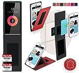 Obi Worldphone SF1 Hülle Cover Case in Rot Leder -