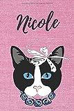 Nicole Notizbuch Katze / Malbuch / Tagebuch / Journal / DIN A5 / Geschenk:...