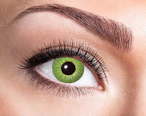 Schwarz Kostüm Electro - Goldschmidt Kontaktlinsen Jahreslinsen mit Sehstärke Dioptrien Halloween Qualitätsprodukt (Electro green, -1,75)