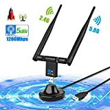 Adattatore Antenna WiFi USB, yotame Wireless Chiavetta con Dual Band Staccabile...