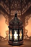 Orientalische Laterne aus Metall & Glas Wifaq Klar 40cm