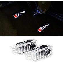 cogeek 2pcs proyector láser Logo Puerta en Charco Luces para Audi A4, A3, A6, Q7Q5A1A580TT A8Q3A7R8RS