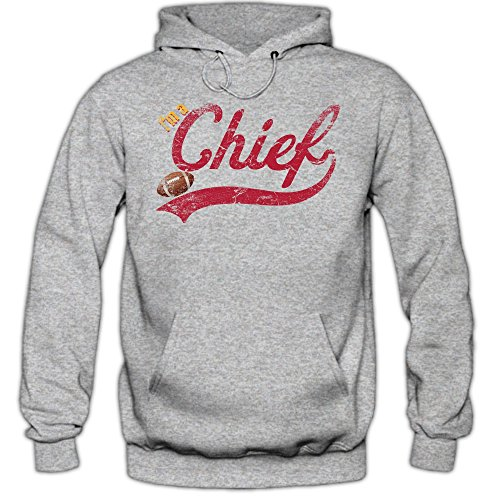 I'm a Chief #1 Hoodie Herren Super Bowl Play Offs Football Hoodies USA Kapuzenpullover, Farbe:Graumeliert (Greymelange F421);Größe:L Alex Smith Jersey