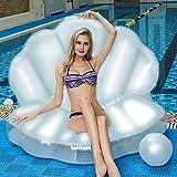 AHJSN Riesen Perle Jakobsmuscheln Aufblasbare Pool Float Shell Mit Griff Und Perle Ball Wasser Sofa...